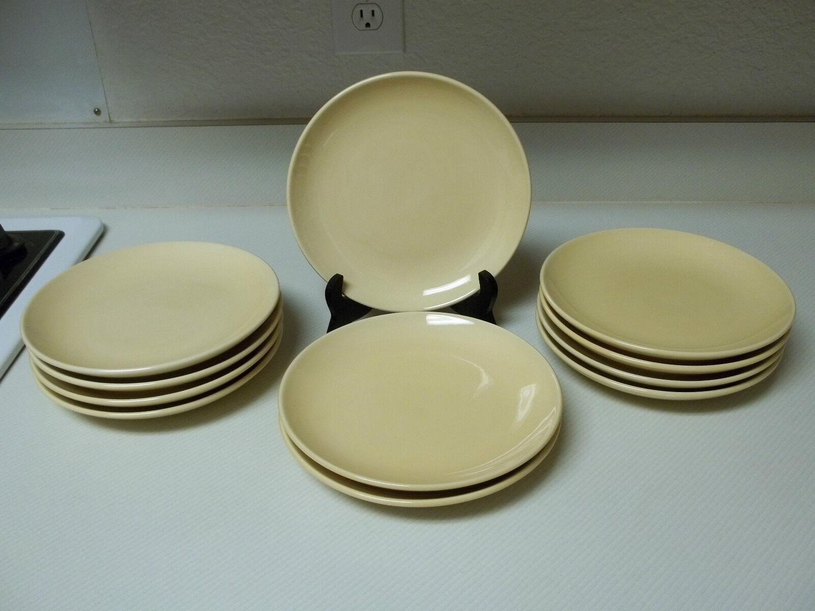 Pottery Barn Sausalito  Set de 11 assiettes à salade jaune en grès 8 in (environ 20.32 cm)