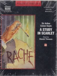 A-Study-in-Scarlet-Arthur-Conan-Doyle-4-Cassette-Audio-Book-NEW-FASTPOST