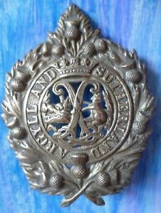 Argyll-and-Sutherland-Highlanders-Cap-Badge-Unmarked-Heavy-SILVER-2-Lugs-RARE