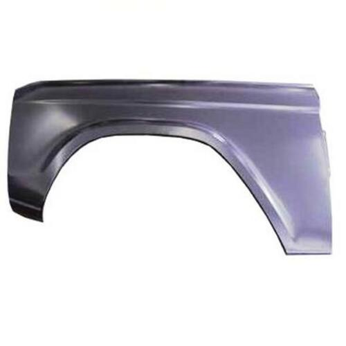 Stamped to exact Tolerances Front Fender 1966-1977 Ford Bronco Driver Side