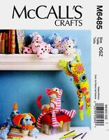Mccall's Sewing Pattern M6485 Stuffed Animals Hippo Cat Dog Horse Frog 6485
