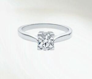 New Harry Winston Diamond Engagement Ring Brilliant Colorless E Vs1 10 788 Ebay
