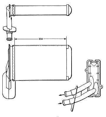 VW Corrado 53I 1988-1995 Oem Heater Matrix Heating System Replacement Part