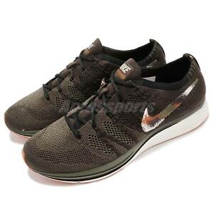 huge discount 128b9 edc75 Image is loading Nike-Flyknit-Trainer-Velvet-Brown-Spray-Camo-Men-