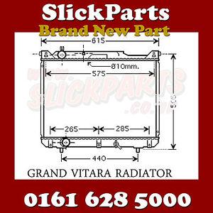 SUZUKI-GRAND-VITARA-RADIATOR-2-0-TDi-HDi-1997-1998-1999-2000-2001-NEW