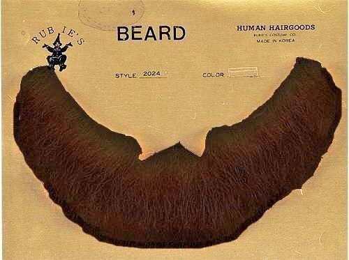 Beard Human Hair Full Black Net Back Professional Theatrical Rubies #2024