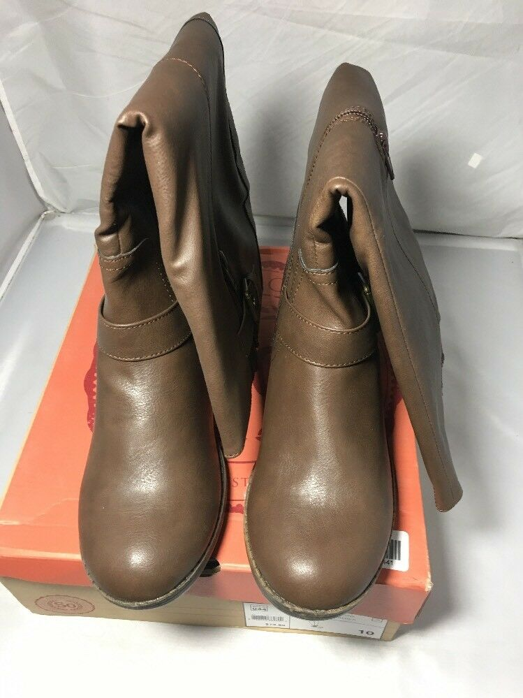 So Women's Boots Brown Long Riding Boots In Box Size: 10