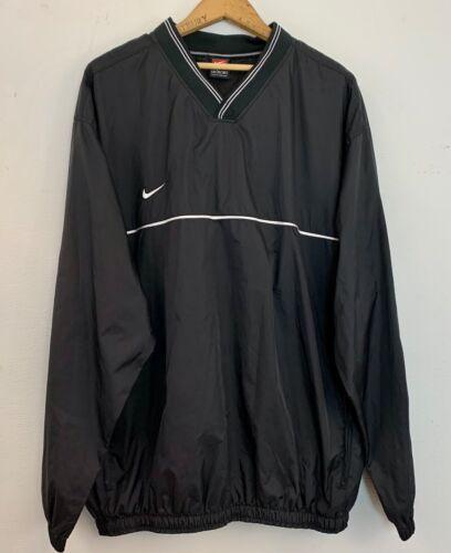 Nike - Vintage mens Size XL Black V-Neck Pullover