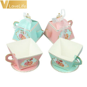 Details About 10pcs Tea Party Candy Boxes Teapot Box Baby Shower Wedding Birthday Party Favors