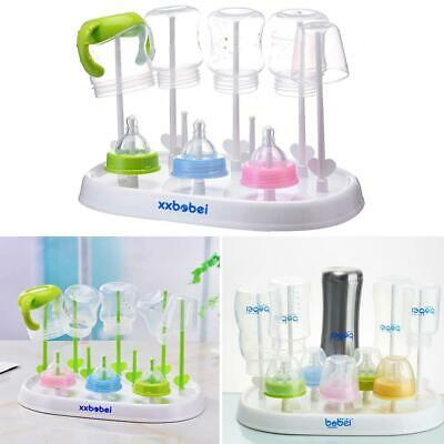 Baby Infant Bottle Dryer Rack Kitchen Clean Drying Shelf Feeder Holder Stand 6T