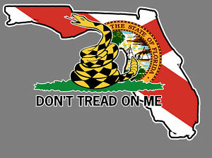 florida state flag don t tread on me gadsden flag sticker decal