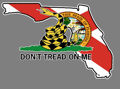 Dont Tread on Me Clear Vinyl Decal Sticker for Window Gadsden Flag Sign Art Print Design-Metallic Silver