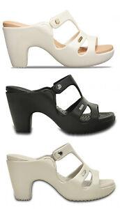 CROCS-CYPRUS-V-HELL-W-scarpe-sandali-donna-infradito-ciabatte-mare-zoccoli-tacco
