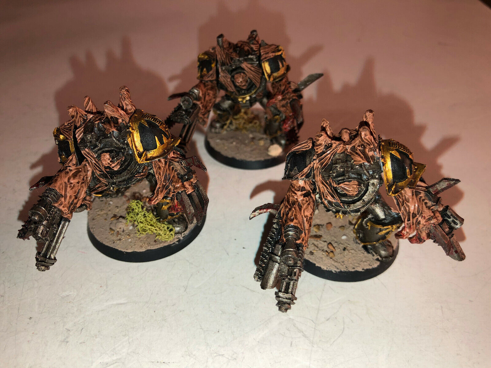 Warhammer 40000 40k Chaos Space Marines Obliterators x3 painted 8 10 61819