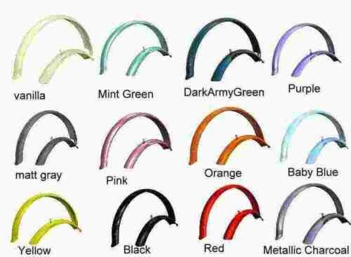 "24/"" Beach Cruiser Bike Bicycle Fender set Pick Up 10 Colors"