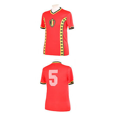 BELGIUM 1982 WORLD CUP RENQUIN 5 RETRO REPLICA SHIRT M