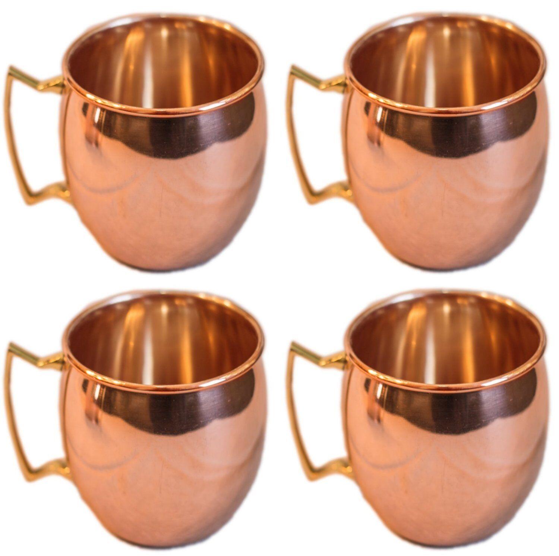 Smooth Finish Handmade Copper Moscow Mule Mugs  Cups Copper Mug 16 Oz.