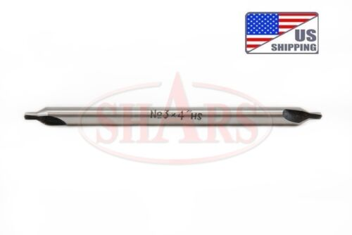 "OUT OF STOCK 90 DAYS SHARS #1 x 4/"" Long M2 60° Combined Drill /& Countersink Cent"