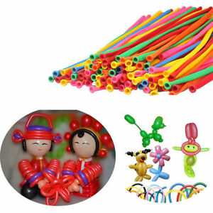 20-100pcs-New-Party-Modelling-Balloons-Mixed-Colours-Latex-260Q-Traditional