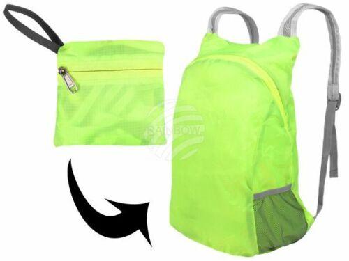 faltbar Rucksack NEON-Grün Uni mit Besatz