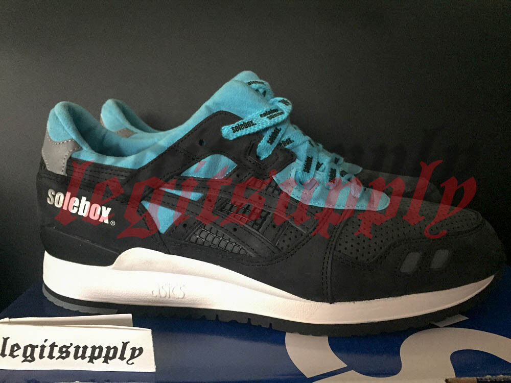 Solebox x Asics Gel Lyte III 3 bluee Carpenter Bee Sz 8-10 H61NK-9090