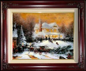 Thomas-Kinkade-034-Victorian-Christmas-II-034-20x24-SN-Limited-Edition