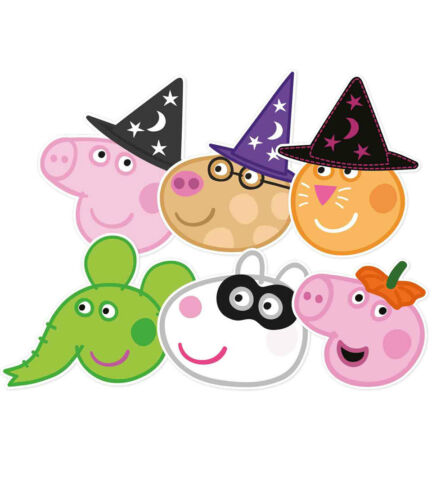 Peppa Pig and Friends Halloween Variety 6 Pack 2D Card Party Face Masks
