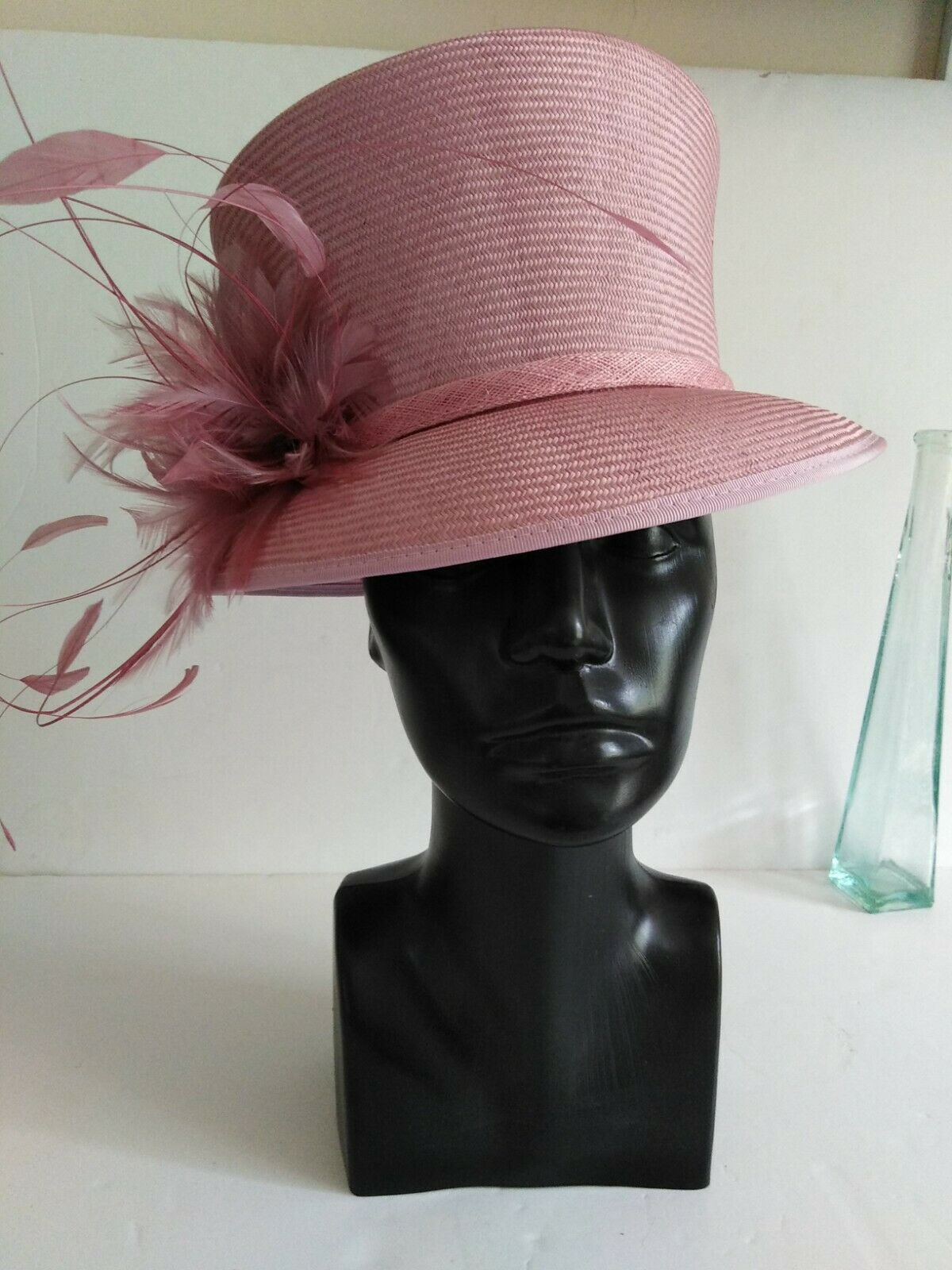Vintage Whitely Parisisal hat & Box ORCHID Special Occasion Mother Of The Bride