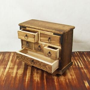 Japanese Dollhouse Miniature Furniture Wheelchest 1 12 Ebay