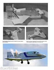 Model Airplane Full Size Printed Plan Peanut Scale  VARI VIGGEN & Article