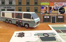 "Papercraft ""Stripes"" army movie 1976 GMC RV EM50 paper toy vehicle EZU-Make-it"