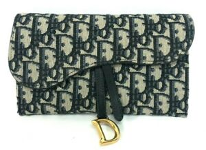 Authentic Christian Dior Oblique Monogram Long Saddle Wallet On Chain Ebay