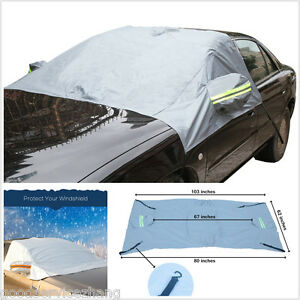 Car Windshield Side Rearview Mirror Cover Protect Sunshade ...
