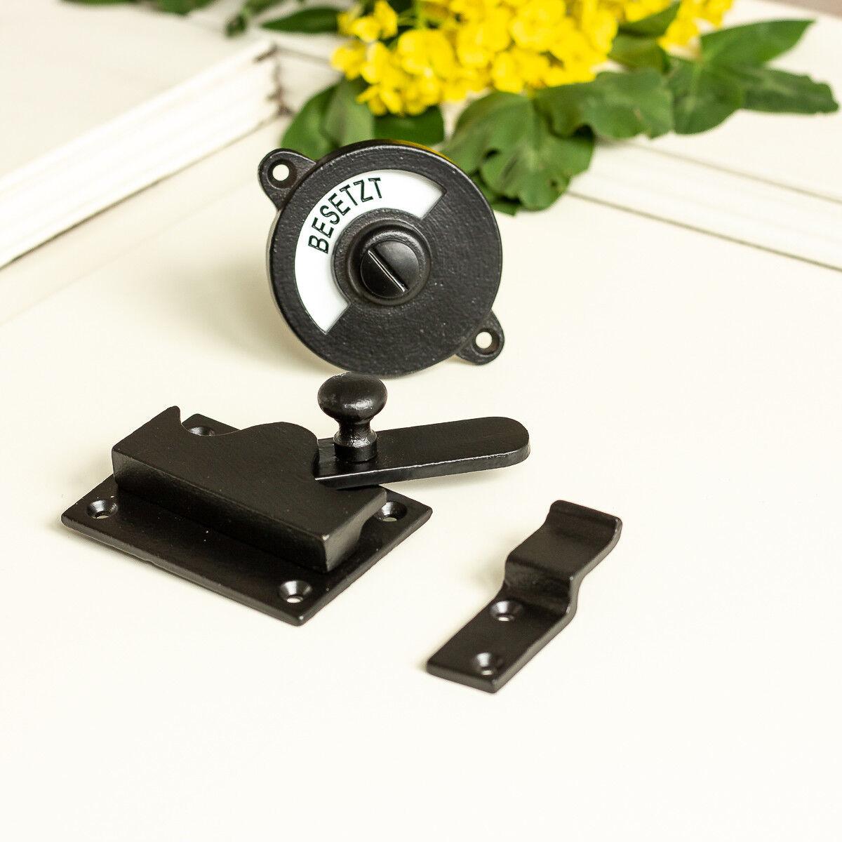 Drehverschluss für Toilettentür, WC-Tür Verriegelung,  schwarzer Türbeschlag | Lebensecht  | Export  | Qualität und Quantität garantiert  | Wunderbar