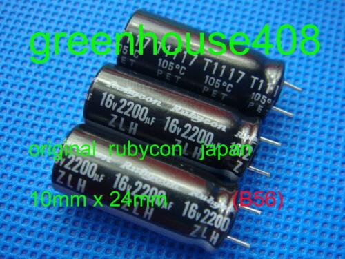1p RUBYCON ZLH 2200uf 16 V Radial Condensateur électrolytique Rubycon B56