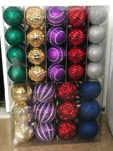 Home Accents Holiday Shatter-Resistant Assorted Ornament 100-Count