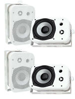 Pyle Pdwr40w 5.25 White Indoor/outdoor Waterproof Home Theater Speakers, 2 Pair on sale