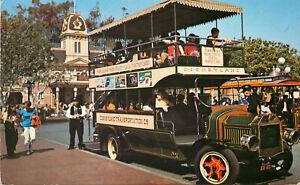 s11472-Disneyland-Omnibus-Anaheim-California-CA-US-postcard-posted-1979-stamp