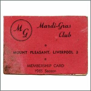 Mardi Gras Club 1964 Membership Card Uk Ebay