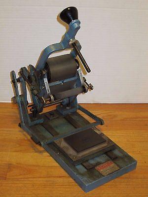 Vtg Rajafix M1A Printing Press Desk Top Business Card Letter Letterpress Printer