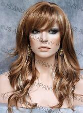 Glamorous Long Natural Wavy Wig Strawberry Blonde Mix Full Bangs JSPP 27-613