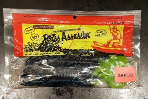 """5 1//2/"""" Lizard Junebug//Chart Tail 9PK Bass Assassin"""