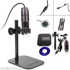 20X-800X 8 LED USB Digital Microscope Endoscope Optical Video Magnifier Camera