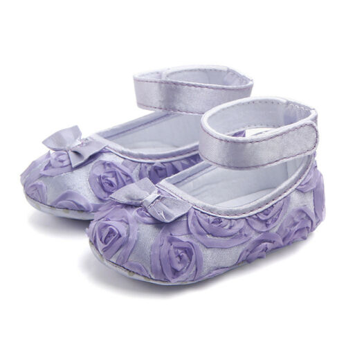 Princess Baby Girls Mary Jane Shoes Soft Sole Party Ballet Dress First Walker