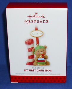 image is loading hallmark ornament baby 039 s my first christmas