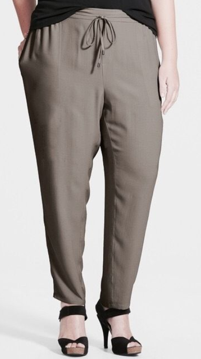 Eileen Fisher Silk Ankle Pants Mocha 3X NWT  278