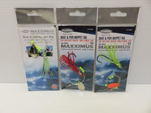 3 X MIXED BOAT AND PIER MUPPET RIG COD BULL HUSS LING SEA FISHING LURE POLLACK