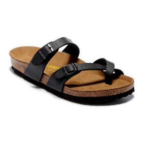 5f87f357077 Details about New Birkenstock Mayari Birko Flor Sandals Women s Shoes EVA  Sole Block .black