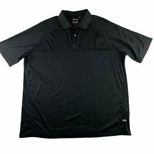 Adidas Climacool Men's Size Large Short Sleeve Polo Performance Shirt Black