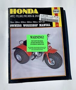 Honda-ATV-3-Wheeler-Work-Manual-Mint-Never-Opened